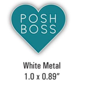 "Accessories - COMING SOON Posh Boss Heart Lapel Pin 1.0"" x 0.89"""
